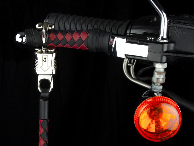 Get Back Whip on a Braided Lever - Black & Red