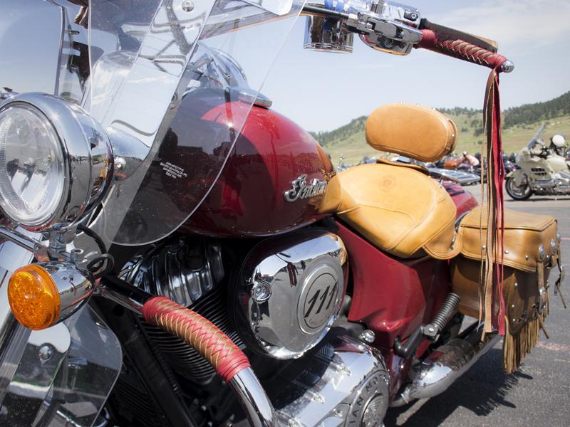 """Braided Red & Brown 16"""" Fringe Red Tieoffs - Matching Braided Engine Gaurd"""