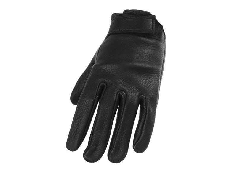Men's Black Deerskin Glove with Velcro Closer - Size 8-12 - #884