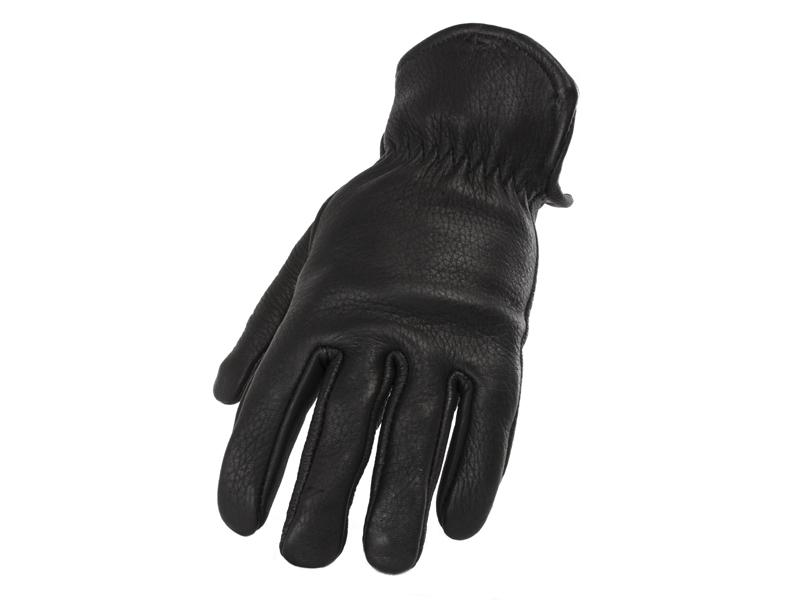 Ladies Black Short Deerskin Glove - Size 6-9 - #840L