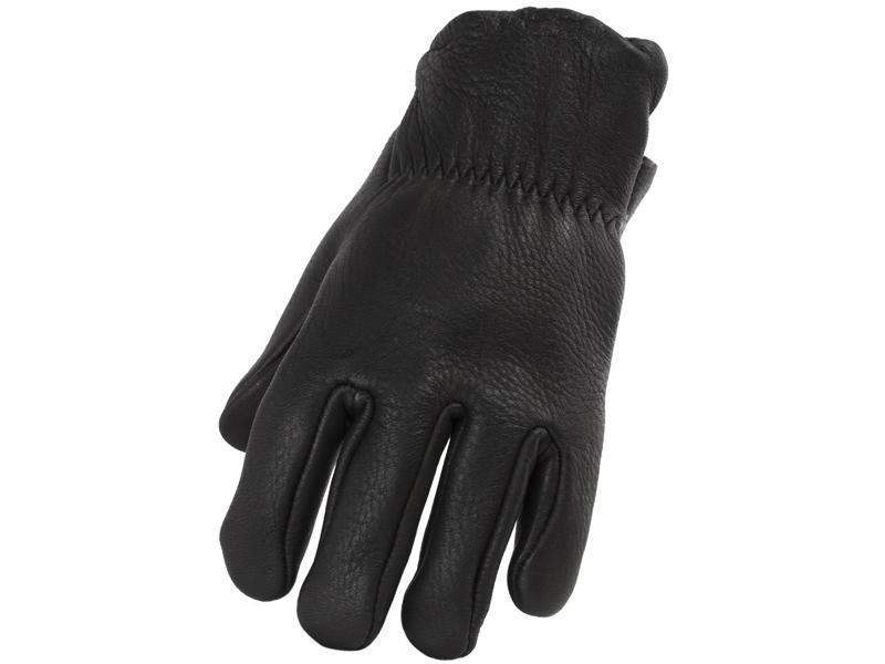 Men's Black Lined Deerskin Glove - Size S-XXL - #897