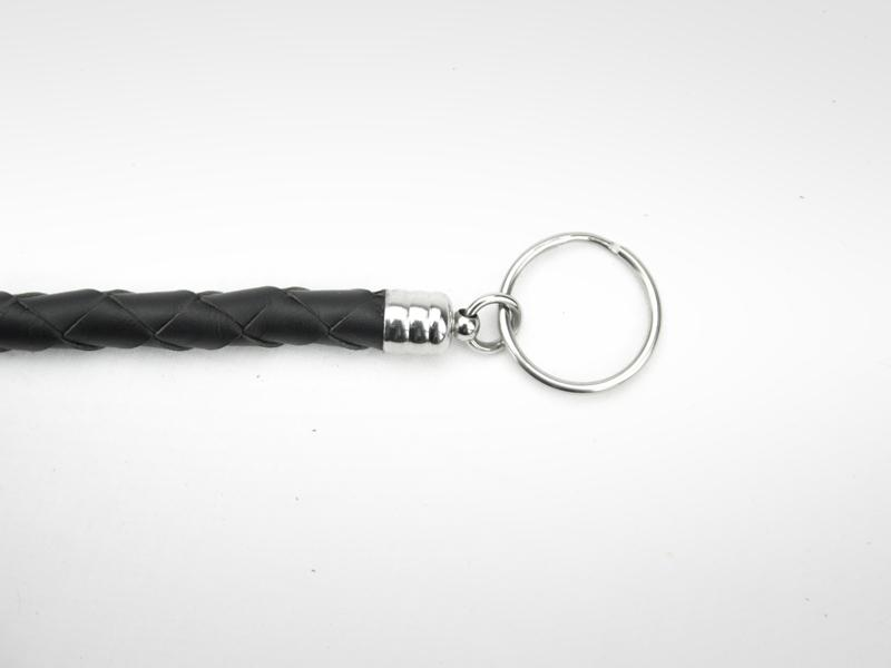 Braided Leather Wallet Chain Scissor Key Ring End