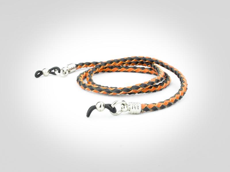 Eyeglass Holders - Black & Orange
