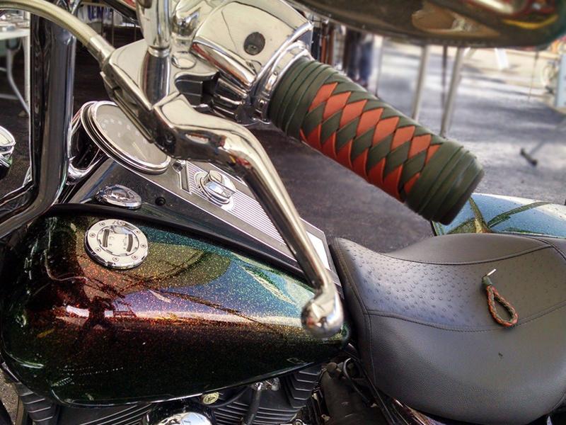 Braided Leather Grips Iron Braid