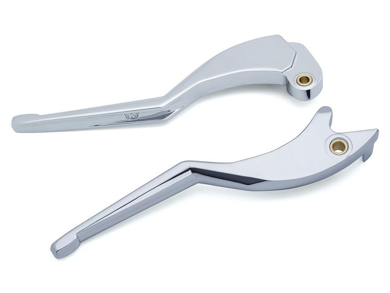 Pair Chrome Indian Legacy Wide Blade Levers